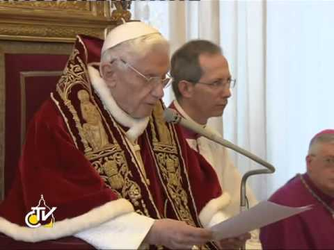 Benedetto XVI rinuncia al Soglio Pontificio