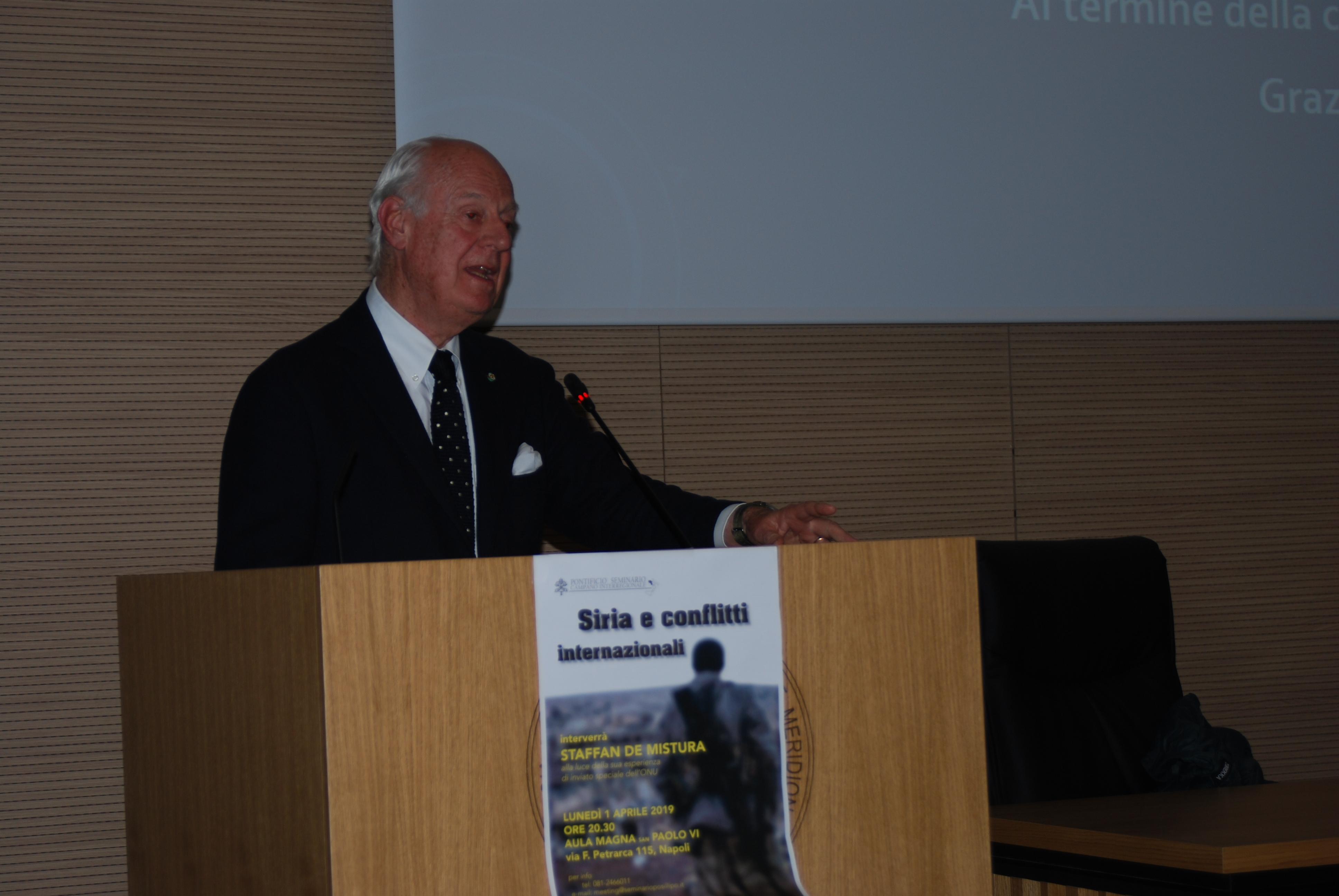 Staffan de Mistura in seminario (30)
